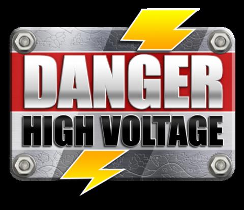 Danger high Voltage BTG