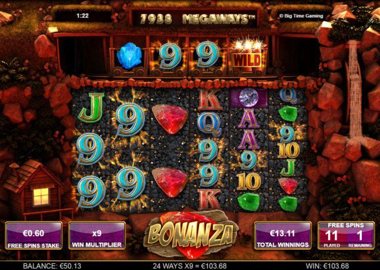 Bonanza Big Time Gaming big bonus win