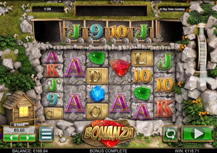 Bonanza Big Time Gaming bonus trigger