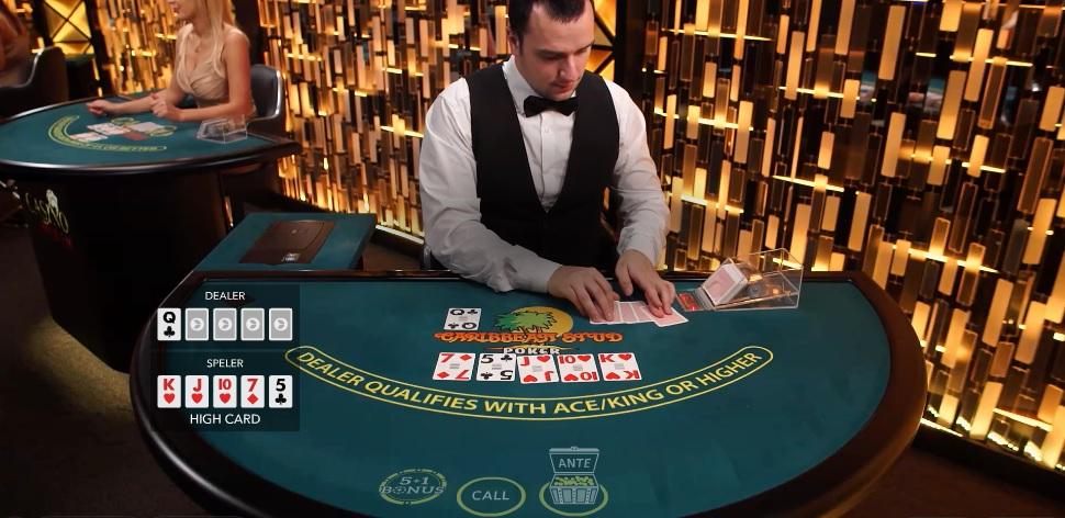 Live Caribbean Stud Poker spelen