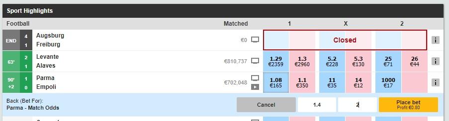 Exchange betting Betfair