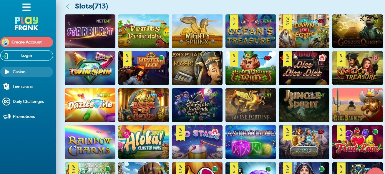 Playfrank Casino review