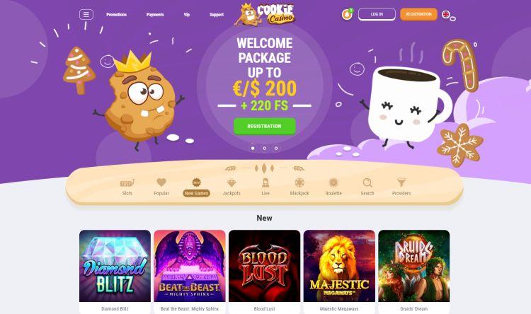Cookie casino review spelaanbod