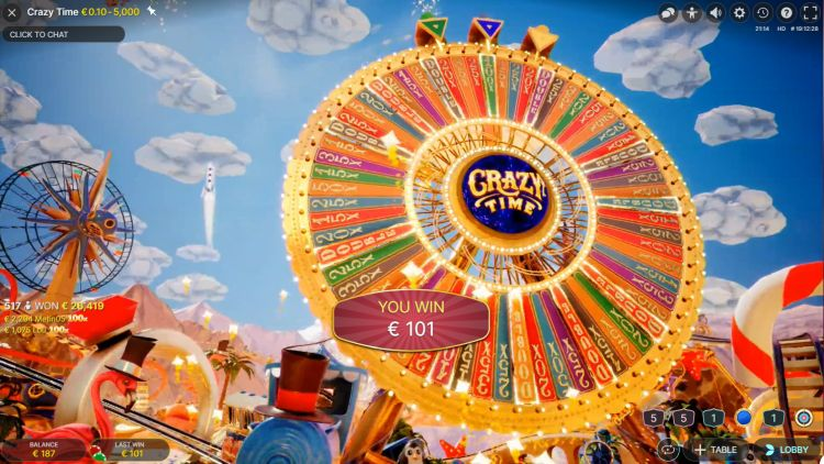 Crazy-Time-Evolution-Gaming-review bonus big win