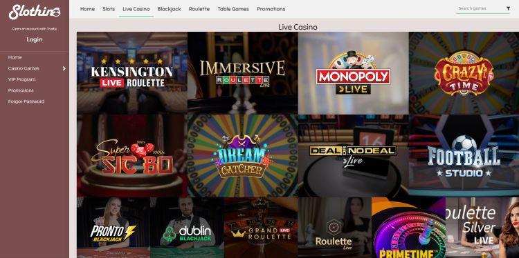 Slothino casino review live casino