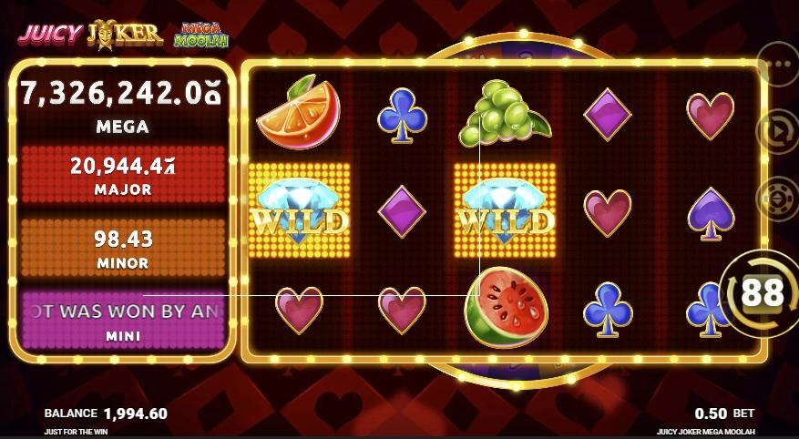 Juicy Joker Mega Moolah slot