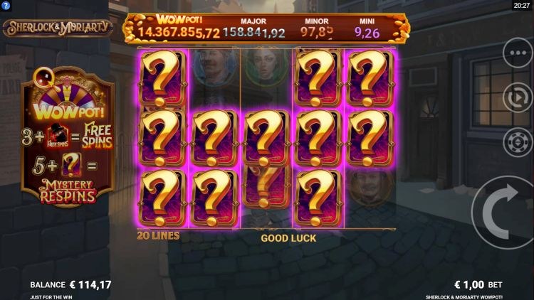 Sherlock and Moriarty slot review respins